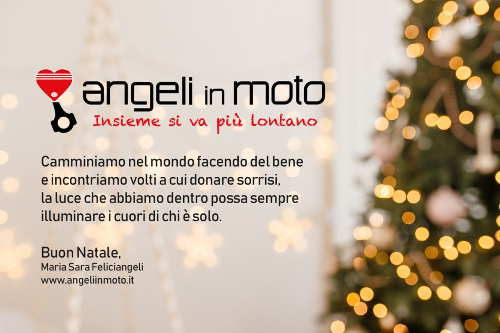 Saluti Di Buon Natale.Auguri Di Buon Natale Angeli In Moto